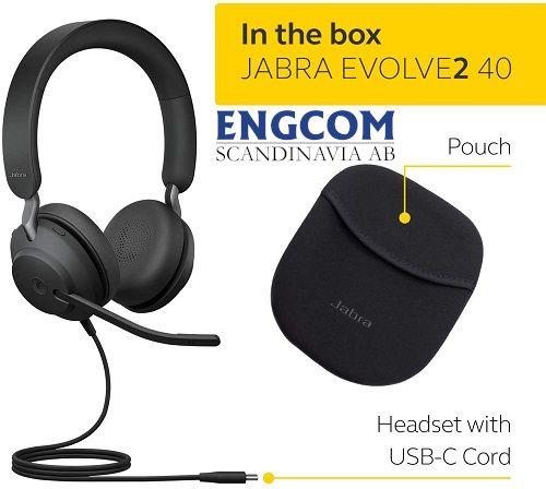 in the box jabra evolve2 40 usb c jabra evolve2 40 Jabra Evolve2 40 USB-C Svart