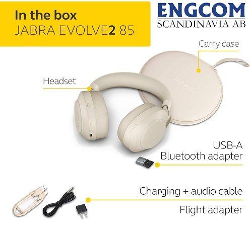 inthebox jabra evolve2 85 usb a beige jabra evolve2 85 Jabra Evolve2 85 USB-A Beige