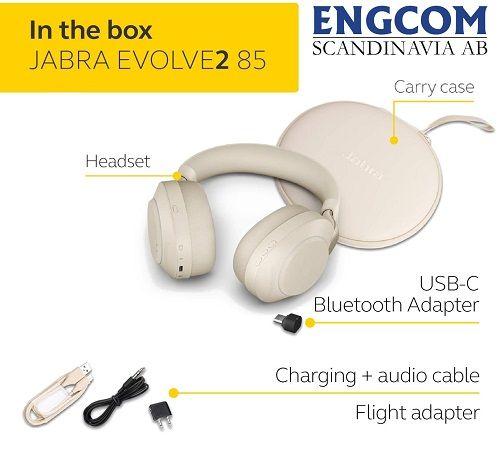 inthebox jabra evolve2 85 usb c beige jabra evolve2 85 Jabra Evolve2 85 USB-C Beige
