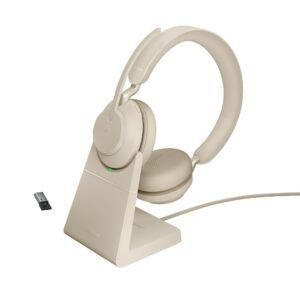 Jabra Evolve2 65 Stand USB-A Beige Stereo