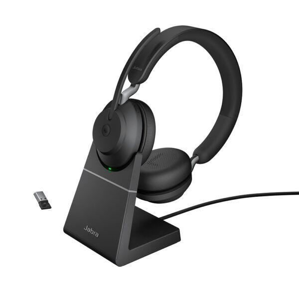Jabra Evolve2 65 Stand USB-A Svart Stereo