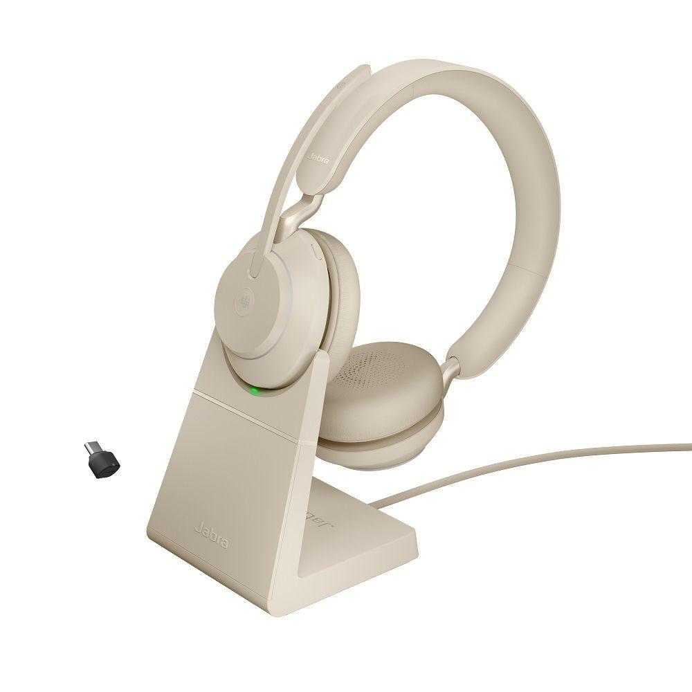 Jabra Evolve2 65 Stand USB-C Beige Stereo